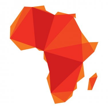 Africa map in origami style stock vector