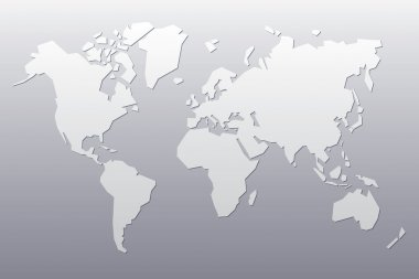 Grey abstract map of the world