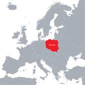 Mapa Evropské unie s uvedením Polska