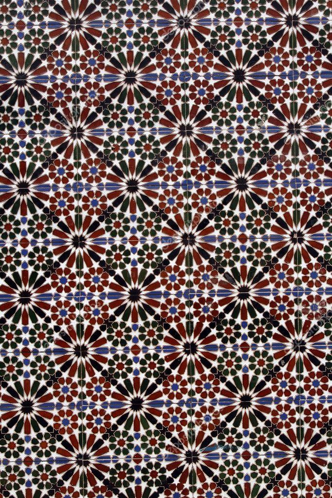 hagyományos spanyol csempe háttér-azulejos — Stock Fotó © chrupka ...