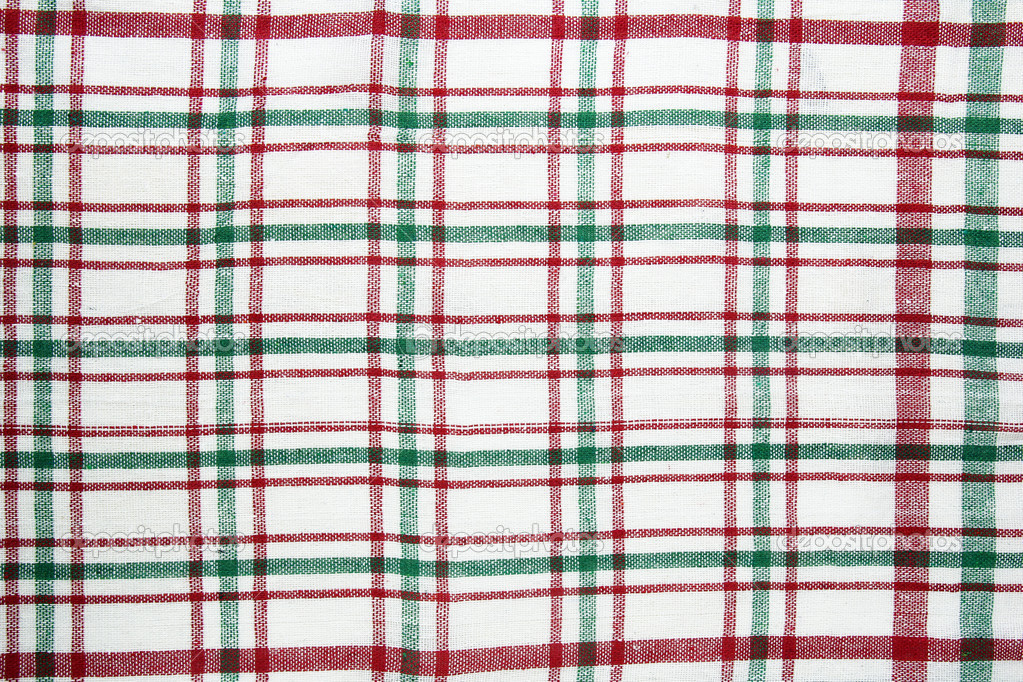 Red And Green Checkered Tablecloth Texture U2014 Stock Photo #50909457