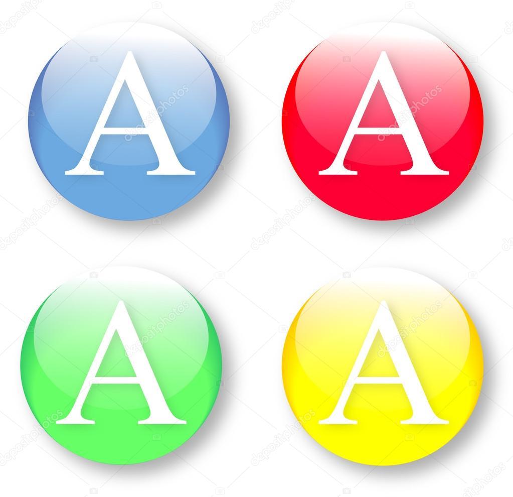 Brief Ein In Das Englische Alphabet Stockvektor Maxterdesign