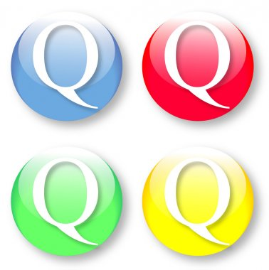 Letter Q icon from the English alphabet