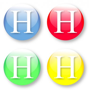 Letter H icon from the English alphabet
