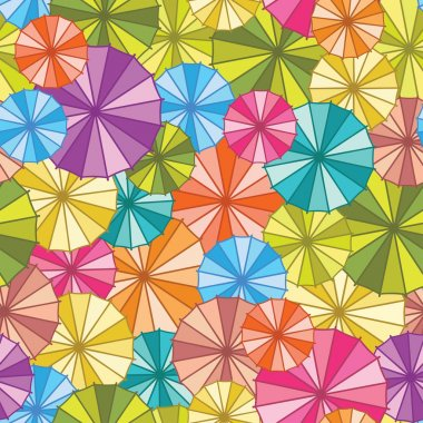 Abstract seamless background with umbrellas