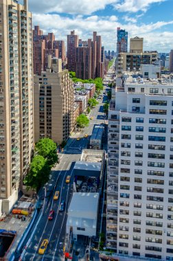 New York City, Aerial view of the 2nd Avenue, Upper East Side