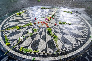 John Lennon Memorial at Central Park, New York