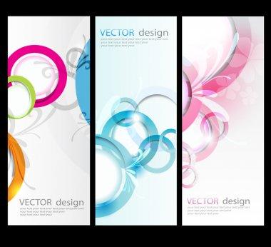 Vector set card background