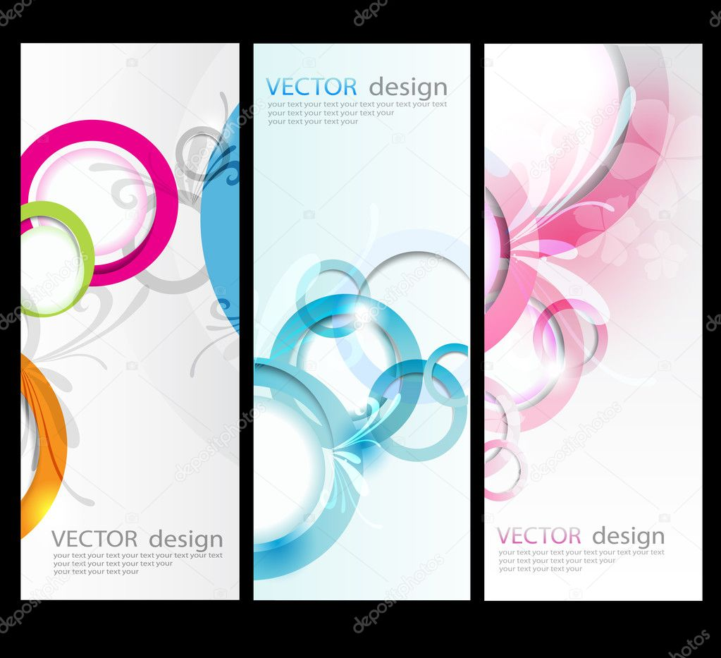 Vector set card background