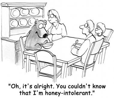 Bear has an allergy to the food