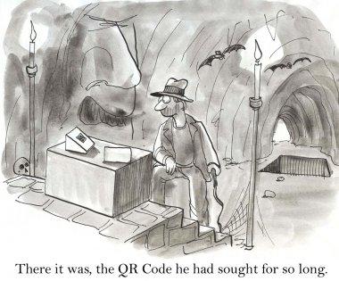 The QR Code was lost in a cave