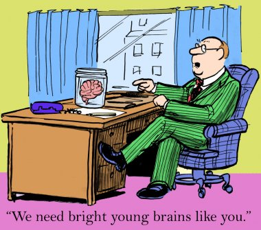 Bright young brains
