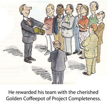 Golden coffeepot
