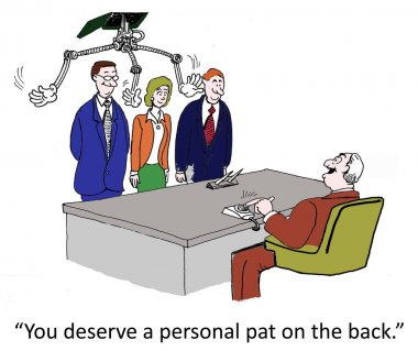 A personal pat on the back from boss