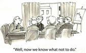 Fotografie kreslený obrázek jednání v kanceláři