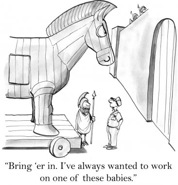 Man always wanted to work on horse