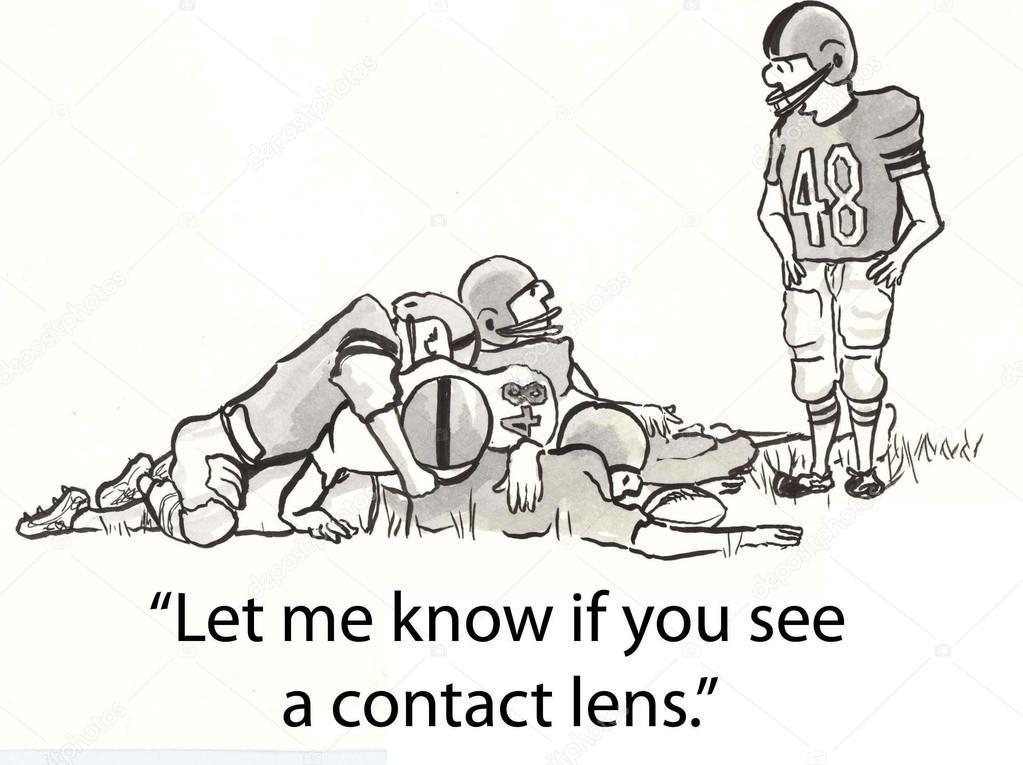 jugador del balompié de dibujos animados ilustración busca lente ...