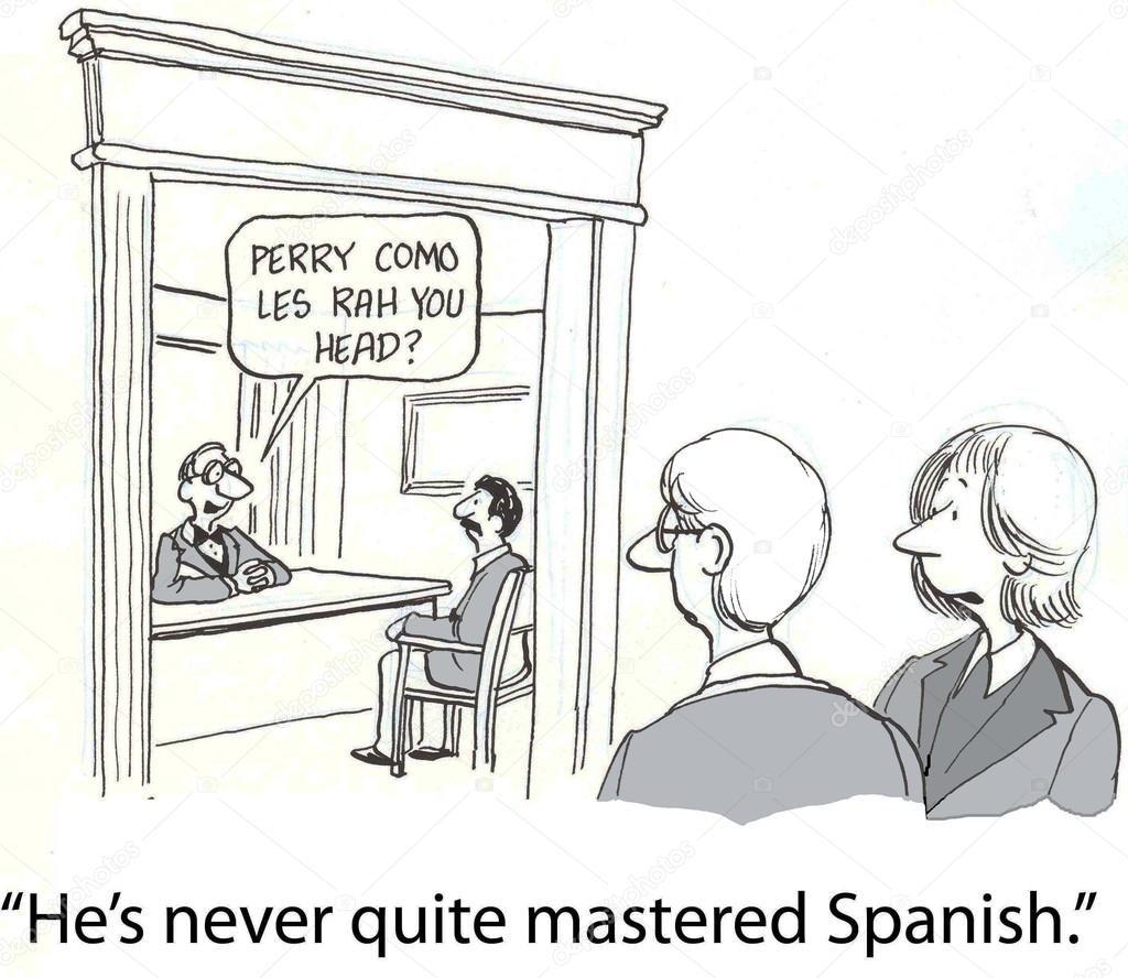 Boss trying to speak Spanish — Stock Photo © andrewgenn #32551117