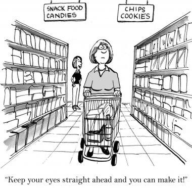 Shopping in market