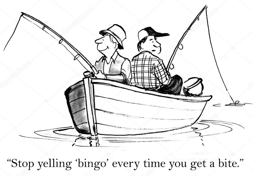 Dibujos Para Colorear Un Pescador: Pêcheurs Pêcher Assis Dans Un Bateau. Illustration De