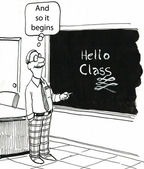 teacher wrote on the blackboard