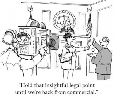 Cartoon illustration - Hold that point