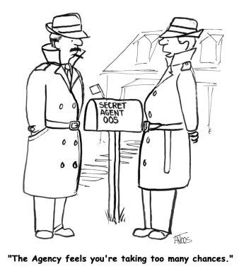 Secret agent mail