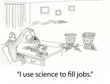 Man use science to fill jobs