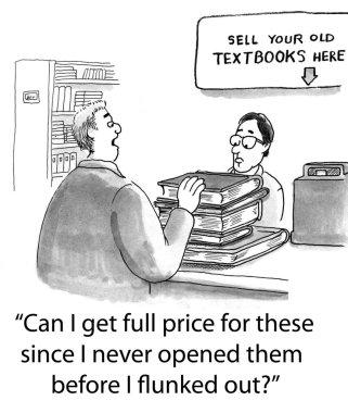 Man selling books