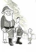 Santa s dětmi