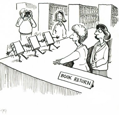 Public Library cartoon