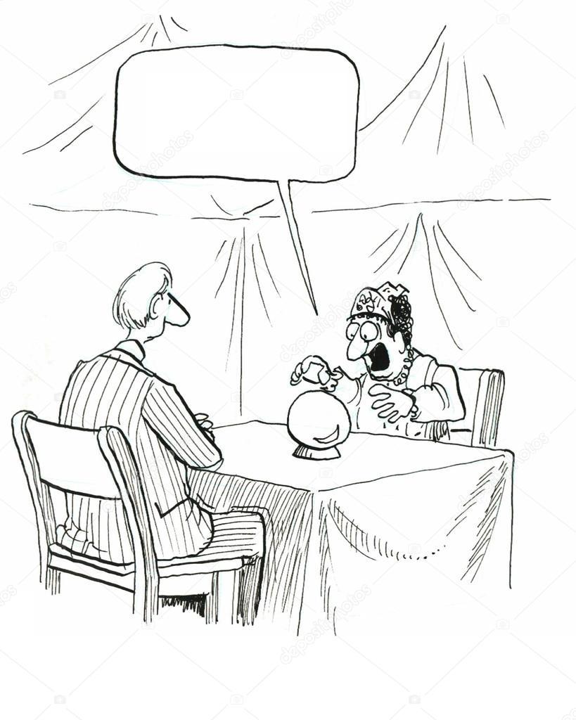 fortune teller predicts the future man stock photo andrewgenn Teller Resume Templates fortune teller predicts the future man stock photo