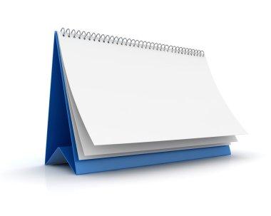 Blank paper calendar