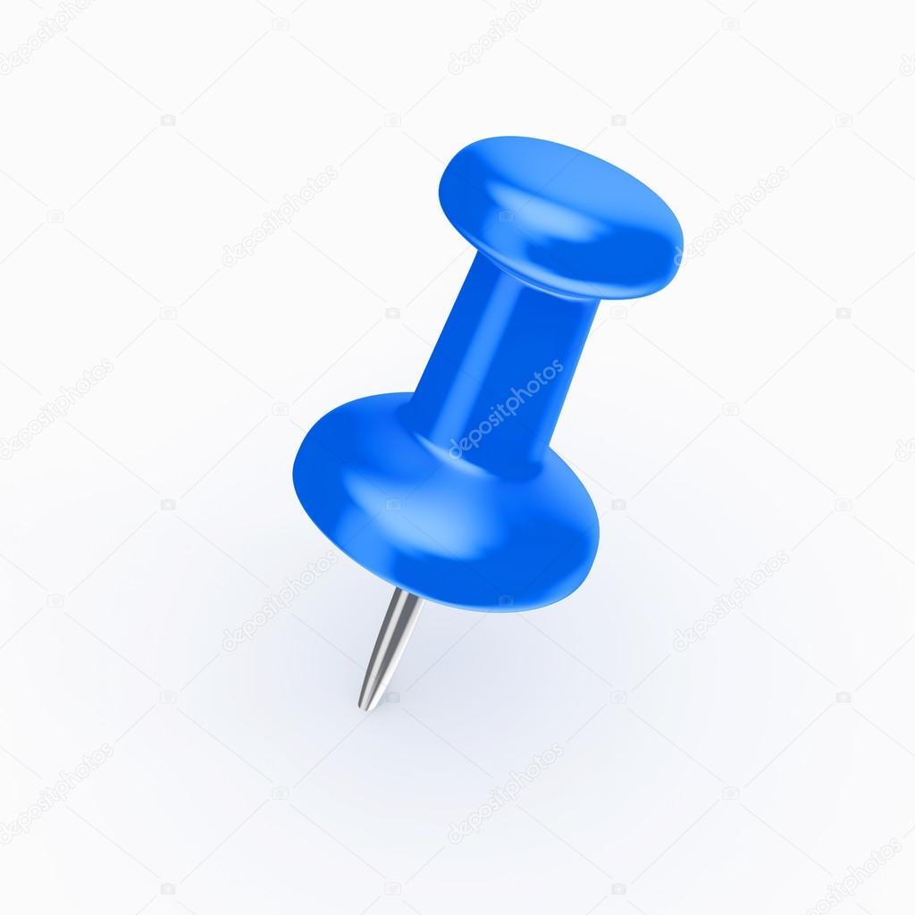 una chincheta azul foto de stock