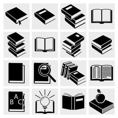 Book icons set.