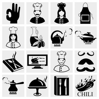 Chef icons set