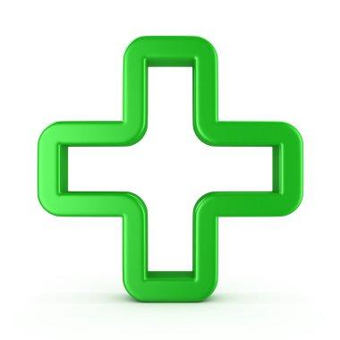 Sign a green cross