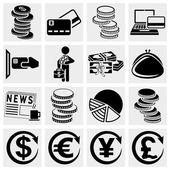 Fotografie peníze vektorové ikony set