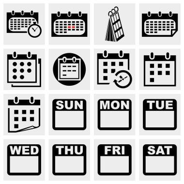 Calendar vector icons set.