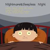 Fotografie Alptraum und schlaflose Nacht
