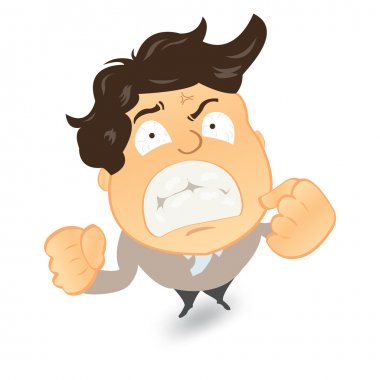 Angry and frustrated businessman