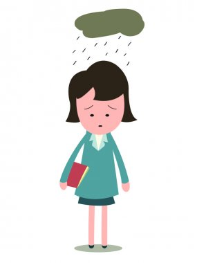 Sad and upset businesswoman