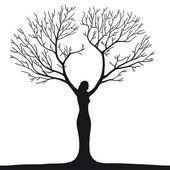 žena strom
