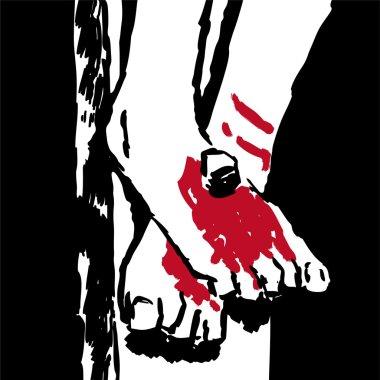 Jesus' feet