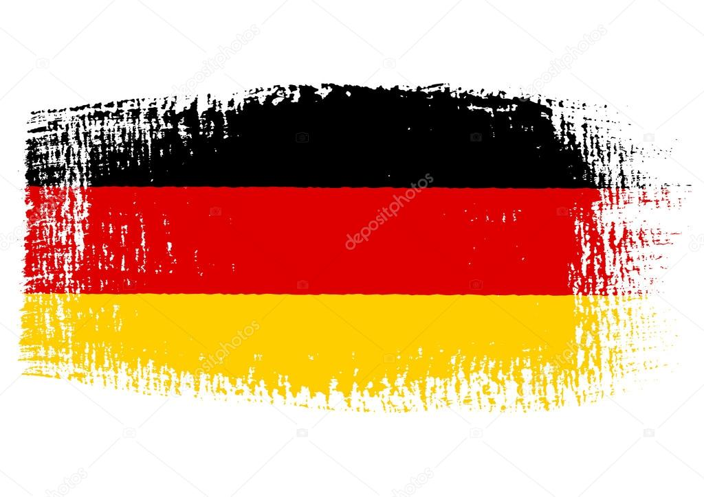 brushstroke flag germany with transparent background stock vector