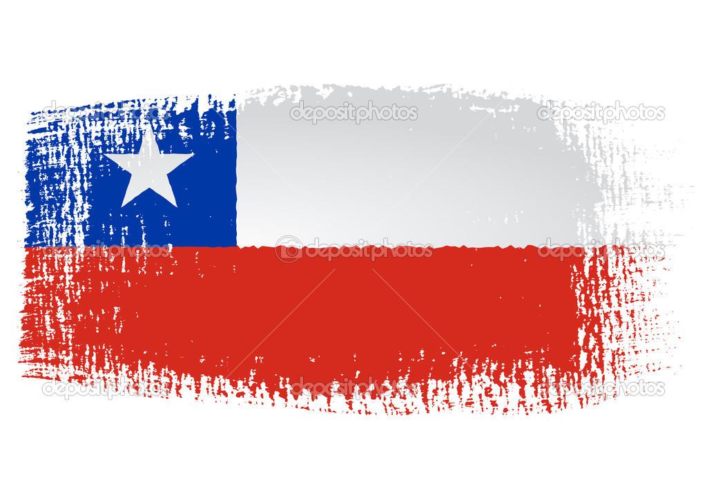 brushstroke flag chile stock vector robodread 46254293