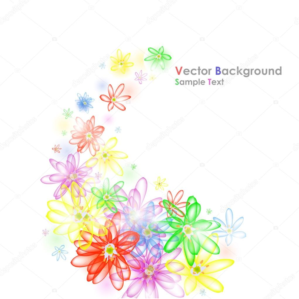 Colorful flower banner