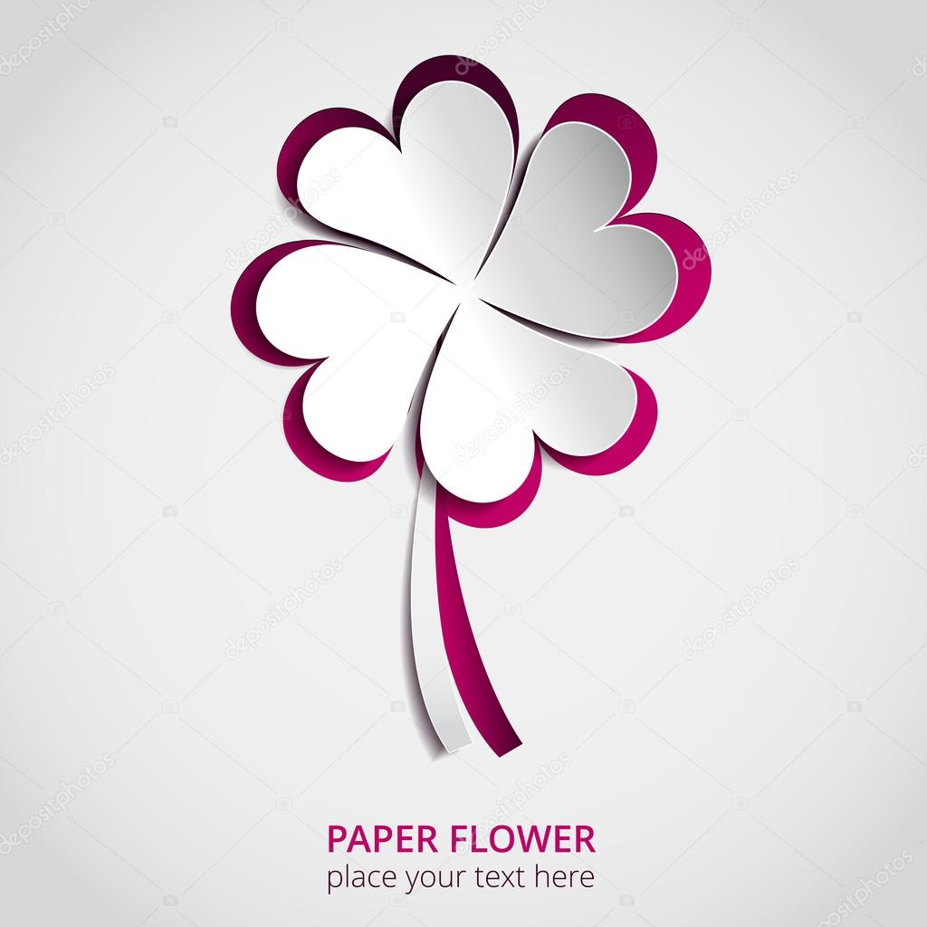 Cutout Paper Flower Vector Greeting Card Stock Vector Juliashm
