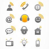 Obchodní signál kolekce ikony logo