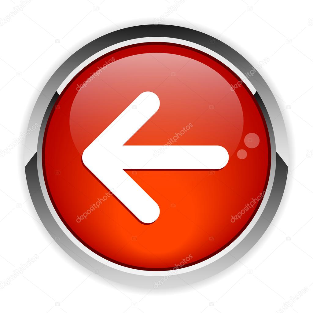 Button leftward arrow icon